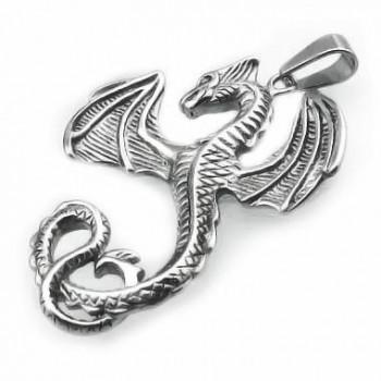 Prívesok drak z chirurgickej ocele (KPR091)