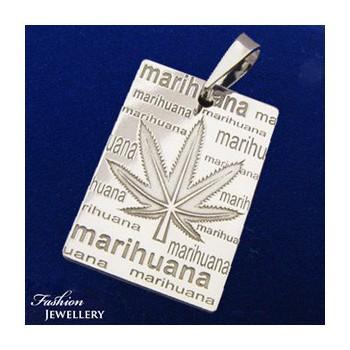 Strieborný prívesok marihuana (KPRS150)