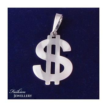 Strieborný prívesok dolár (KPRS154)