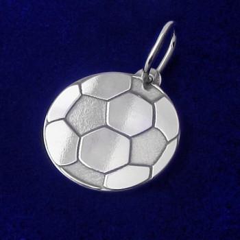 Prívesok futbalová lopta zo striebra (KPRS147)