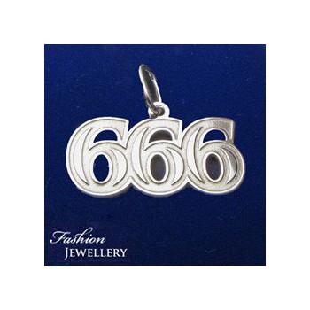 Strieborný prívesok 666 (KPRS158)