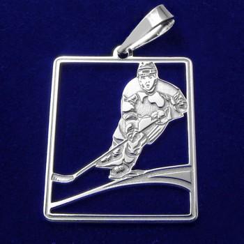 Prívesok hokejista - strieborný (KPRS049)