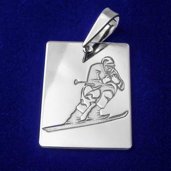 Strieborný prívesok lyžiar (KPRS148)
